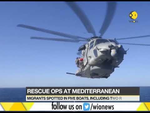 Rescue operation at Mediterranean