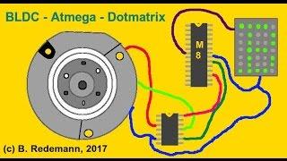 Festplattenmotor (BLDC) als Drehimpulsgeber / Encoder mit Atmega8 und DLG7137