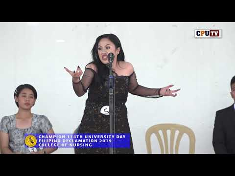CHAMPION FILIPINO DECLAMATION 114TH U DAY COLLEGE OF NURSING