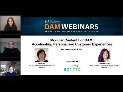 WEBINAR: Modular Content For DAM - Accelerating Personalized Customer Experiences