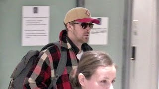 EXCLUSIVE - Ryan Gosling Looks Relax As He Lands In Paris To Promote La La Land