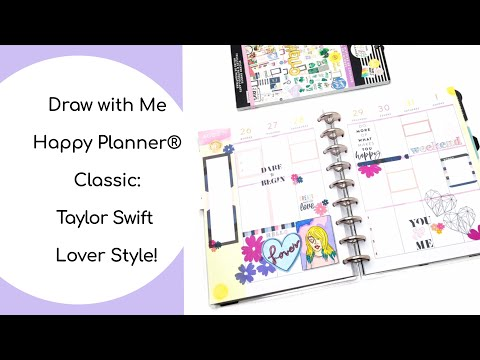 DRAW WITH ME HAPPY PLANNER® CLASSIC: TAYLOR SWIFT LOVER STYLE