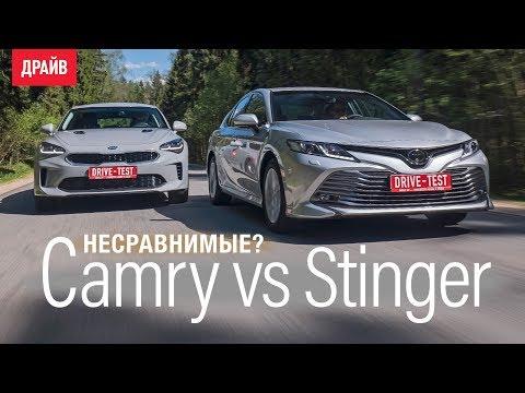 Toyota Camry 2018 или Kia Stinger сравниваем свои машины