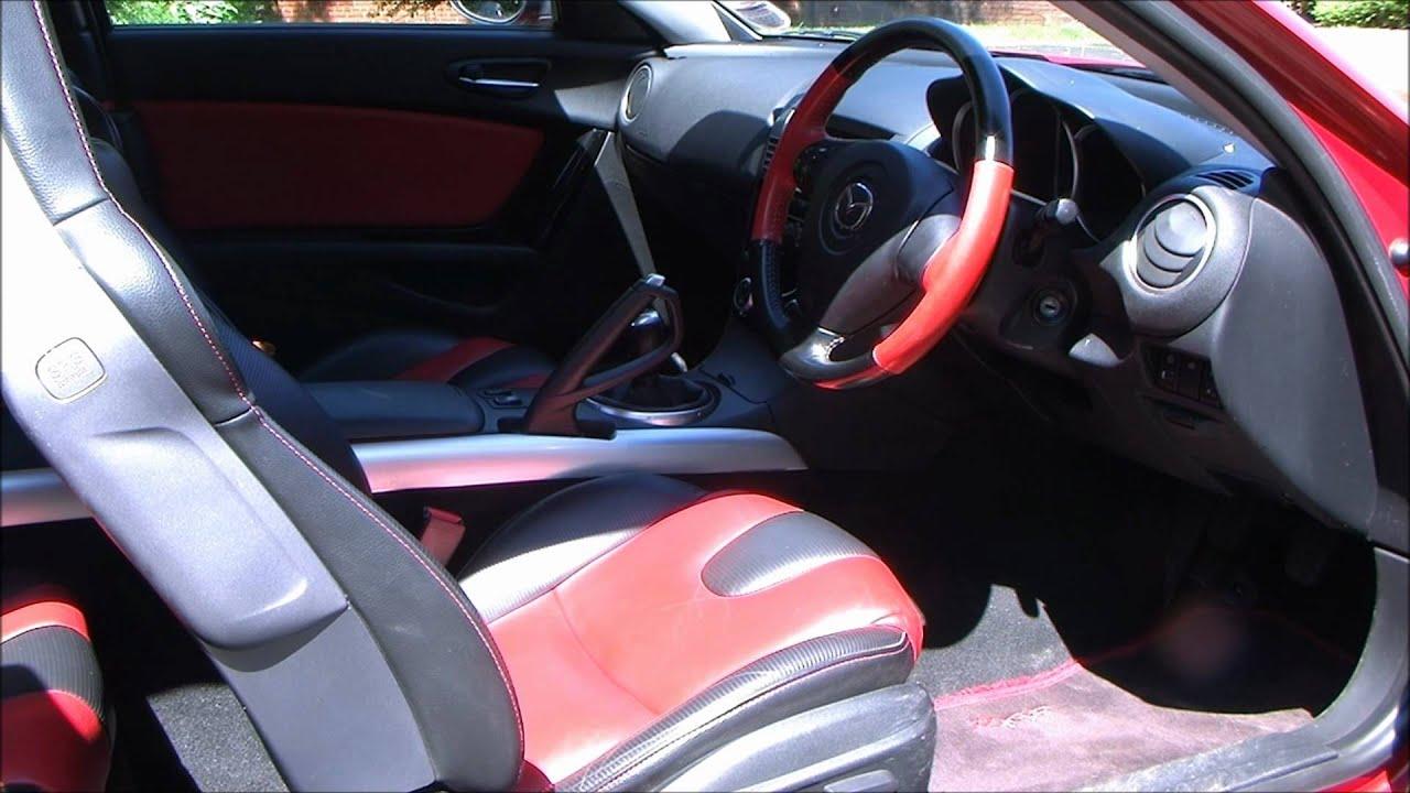 Mazda rx8 red and black interior