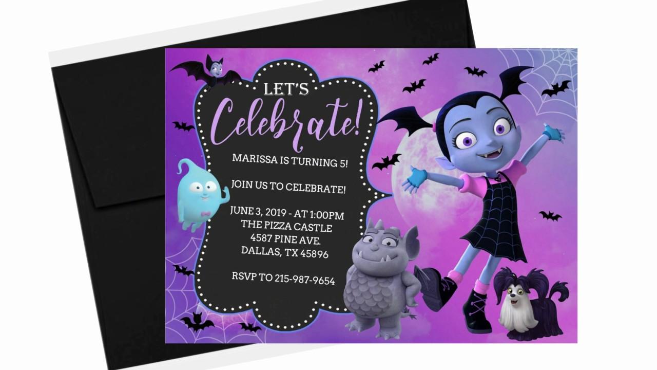 Vampirina Birthday Invitations Easy DIY