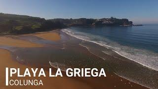 Playa La Griega ( Colunga ) a vista de drone