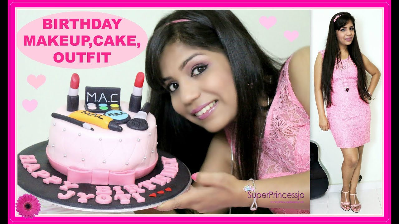 Get Ready With Me MY BIRTHDAYMakeupOutfitHair | Pink Makeup Cake | SuperPrincessjo - YouTube