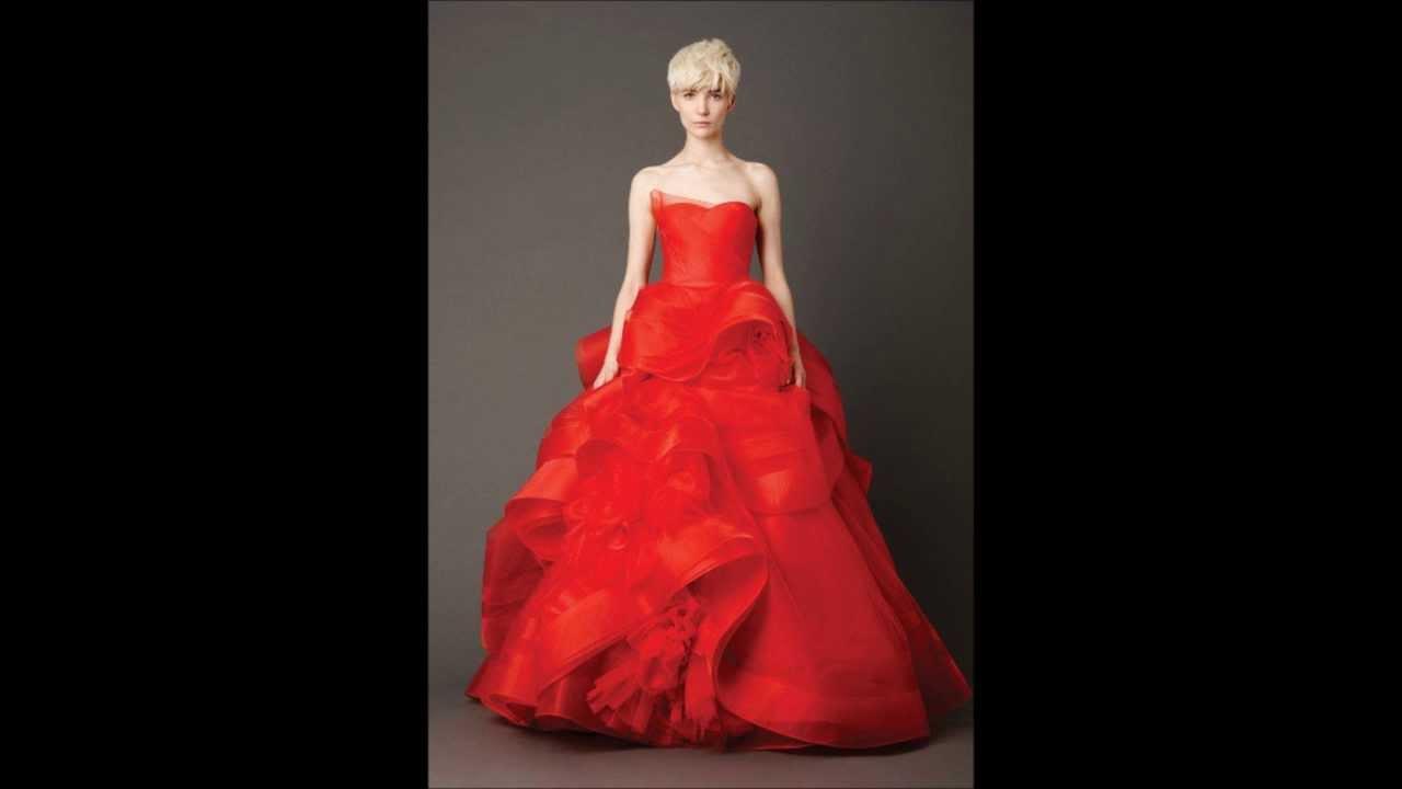Vestidos De Novia Rojos De Vera Wang - Modelos 2014 - YouTube