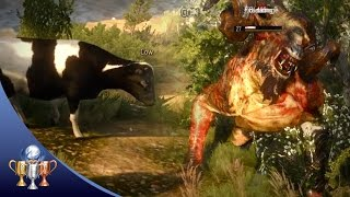 The Witcher 3 - Cow Exploit Hilariously Fixed  (Bovine Defense Force Initiative Easter Egg)