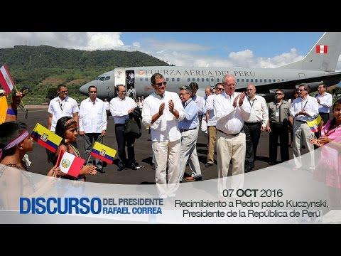 Recibimiento a Pedro Pablo Kuczynski, Presidente de la República de Perú 07/10/2016