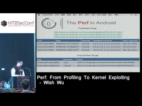 #HITB2016AMS D2T2 - Perf: From Profiling To Kernel Exploiting - Wish Wu