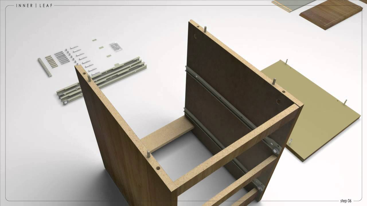Istruzioni Montaggio Cassettiera Malm.Ikea Malm Instructions Using 3d Animation Youtube
