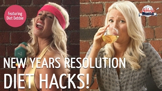 NEW YEARS RESOLUTION DIET HACKS | Smart WEIGHT LOSS, FITNESS & CLEAN EATING Goals | Diet Debbie