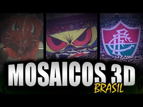 Os 3 primeiros mosaicos 3D de torcidas do Brasil.