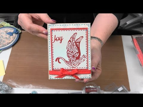 #214 Ink Transfer & Glitter Techniques with Dies & Foil Stamp Plates by Scrapbooking Made Simple