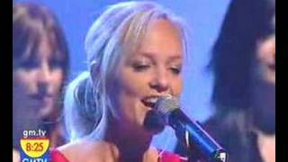 Emma Bunton performance of her song 'Downtown'