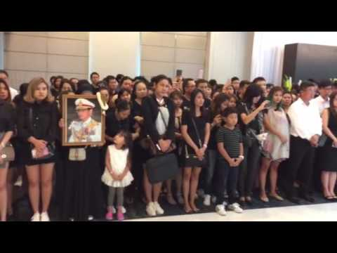 Mourners at Thai embassy in Singapore