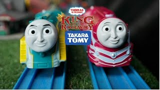 Plarail 2014 Caitlin & Connor Express engines set Unboxing review and first run (with race)