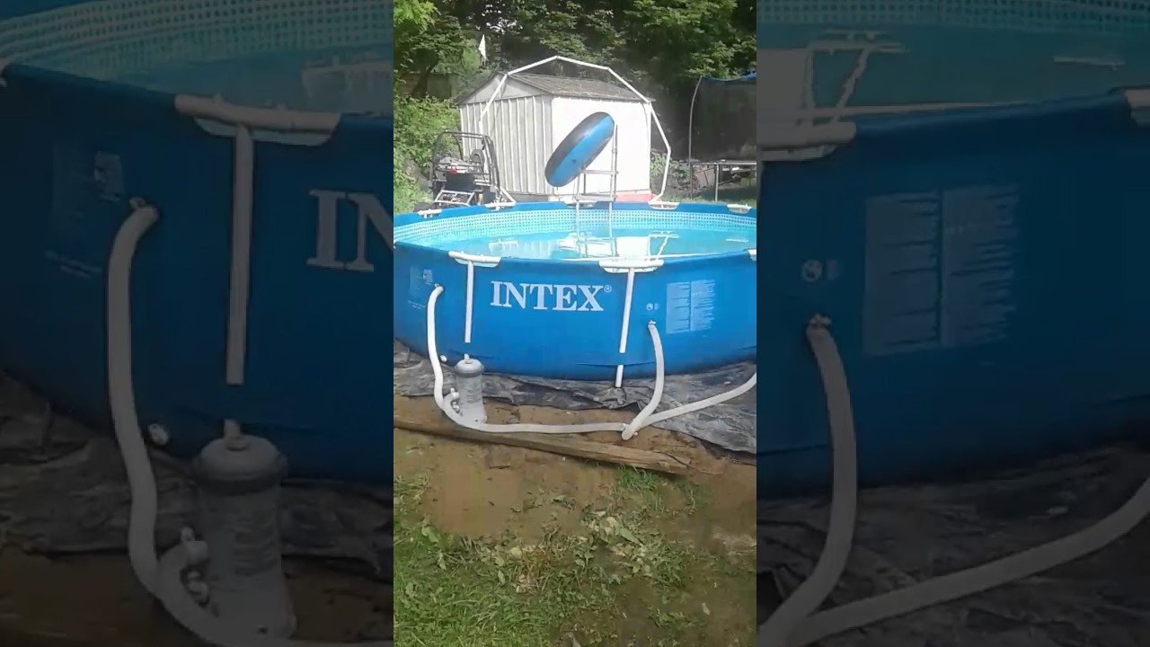 Intex 12x30 metal frame it can be unlevel - YouTube