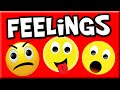 Learn Feelings and Emotions for Kids | Preschool Learning | Kindergarten Learning | Emotions Child