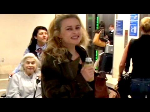 Helena Bonham Carter And Mom Complimented At LAX