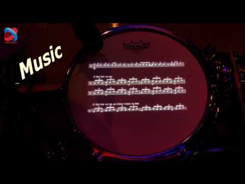 Drum Head that displays Music, Lyrics, even Video!