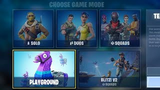 NEW FORTNITE UPDATE OUT NOW! NEW PLAYGROUND LTM IN FORTNITE! (FORTNITE BATTLE ROYALE)