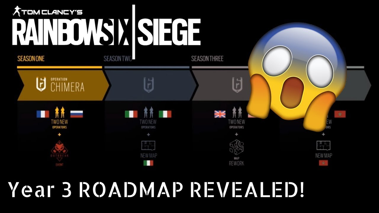 Year 3 ROADMAP Revealed! ZOMBIES GAME MODE IN R6! MISSION OUTBREAK-  Years Roadmap on 3 year calendar, 3 year program road map, 3 year service, 3 year project road map, 3 year plan,