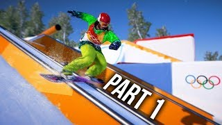 Steep Road to the Olympics Gameplay Walkthrough Part 1 - PyeongChang 2018 (Full Game)