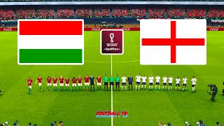 Hungary vs England FIFA World Cup 2022 Qualification Full Match eFootball PES 2021