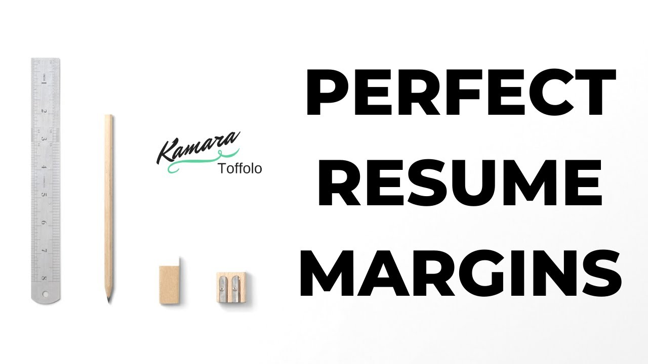 How To Perfectly Format Your Resume Margins Youtube