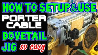 How To Set Up and Use The Porter Cable Dovetail Jig