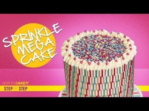 Sprinkles MEGA Cake | Make A Pattern With Sprinkles | Step By Step | How To Cake It | Yolanda Gampp
