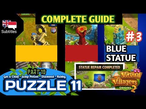 #3. Part 10 | Final Guide Puzzle 11 - Blue Statue Virtual Villagers Origins 2