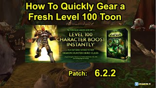 How to Gear After Getting Fresh Level 100 Boost from Legion Pre Purchase