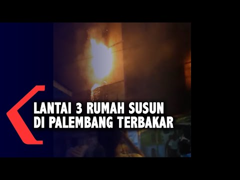 Lantai 3 Rumah Susun Di Palembang Terbakar