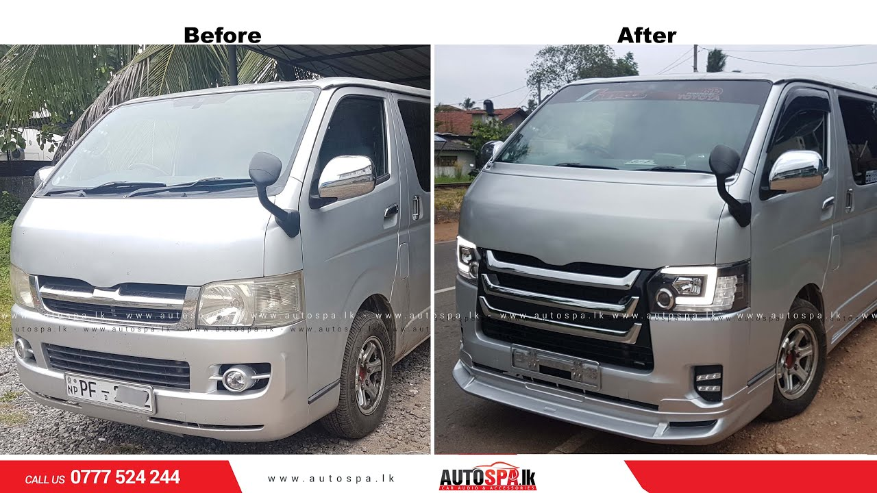 Toyota hiace kdh 2007 upgraded to 2016