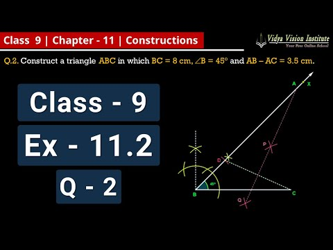 Constructions || Part 11 - Exercise 11.2 - Q-2 || NCERT - Class 9 - Mathematics || Hindi