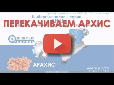 Шиберный насос АНШ Перекачивание вязких продуктов с включением цельных орехов АРАХИС. Пищмашсервис