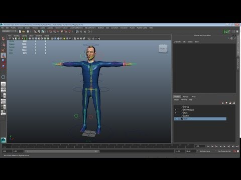 Maya Rigging 4: Controls for Arms and Legs.