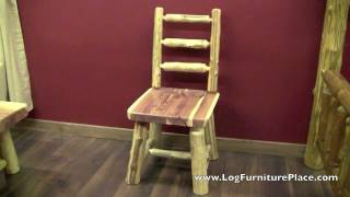 Red Cedar Log Dining Chair From Logfurnitureplace.com