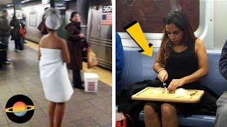 10 najdziwniejszych osób spotkanych w metrze