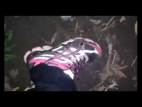 Well worn Pink Asics Gel-Cumulus 15: Burning Sneakers and Flats