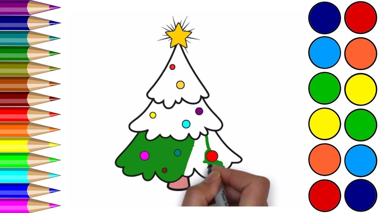 Drawing Christmas Tree For Children
