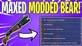 DUAL ELEMENT MODDED THE BEAR SHOTGUN! The Bear ALL LEGENDARY PERKS | Fortnite Save The World