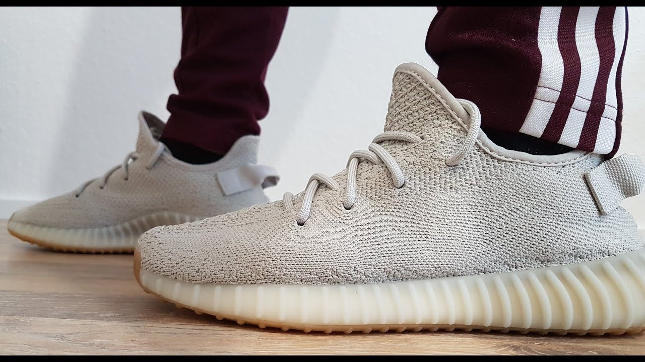 f28f9972271f YEEZY BOOST 350 V2 SESAME ON FEET - YouTube