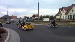 krótka przejażdżka motocyklowa 3 .10 .2015 i parada motocyklowa Głogów - Jakubów