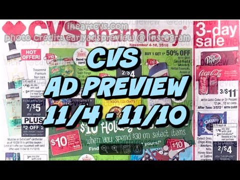 CVS AD PREVIEW 11/4 - 11/10 | CASH CARD, MONEYMAKER TOOTHPASTE & MORE!