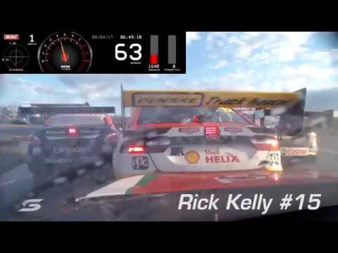 2017 Supercars - Tasmania Race 1 - Onboard Pile Up