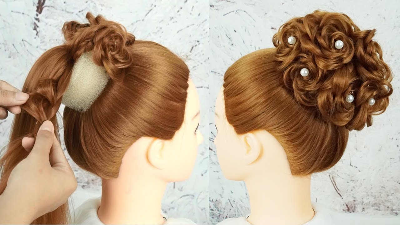 beautiful hairstyle party wedding